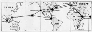 map of marconi's wireless girdle